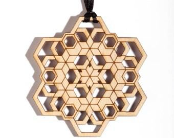 Hex Flake Ornament