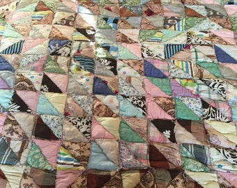 """72"""" x 42"""" Handmade quilt made with love"""