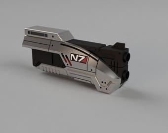 Folding M3 Predator Pistol Replica (Spring Loaded version) - 3D Part Files