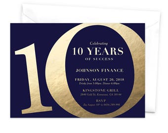 10th wedding anniversary invitation anniversary party tenth ten years of success 10th year anniversary party invitation tenth anniversary 10th business anniversary invitation 10 years stopboris Image collections