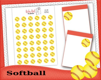 Softball Stickers - Softball Planner Stickers - Planner Stickers - Sport Stickers - Erin Condren Planner Stickers - Happy Planner - HS-014