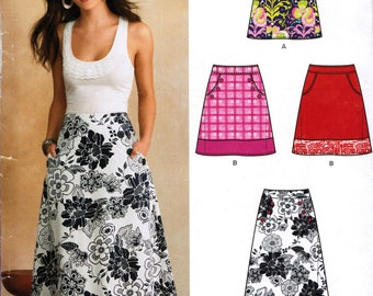 NEW LOOK 6106 sewing pattern.  Skirt pattern.  Size 10 - 22.  New.  Uncut.  Factory folded.