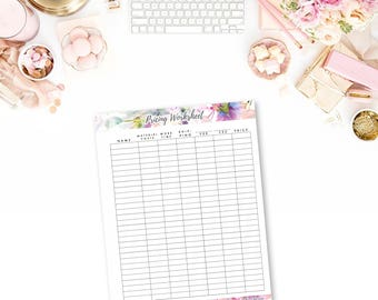 Printable Quick Pricing Worksheet Forms for Your Business - Pricing Download - Gifts for Makers - Price your work with confidence