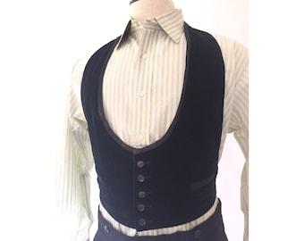 40s tuxedo vest, backless, adustable | S.M