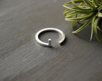 Sterling Silver Bar Ring, Athena Ring, Simple Silver Ring, Simple Ring, Bar Rings, Minimalist Ring, Silver Ring, Cuff Ring