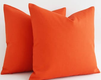 SALE ! - Decorative Pillow, Throw Pillow, Accent Pillow, Euro Sham, Couch Pillow, Orange Pillow. Pillow Sham, Cushion, Cotton Pillows