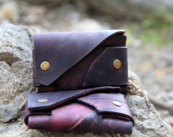 """Vinous Leather Minimalist Wallet for Cash and Credit Card - """"Hipster style"""