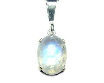 Moonstone sterling silver Pendant with chain