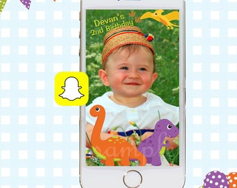 Snapchat GeoFilters, Birthday Snapchat Filters, Party Snapchat Filter, Dinosaur Party, Dinosaur Birthday Party, Dinosaur Birthday Filter
