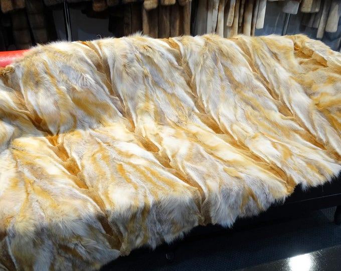 Red Fox Fur Blanket, Fur Throws F781