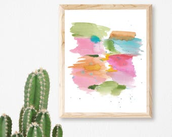 Abstract Watercolor Print