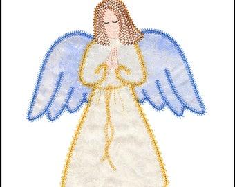 Angel 4 Applique Machine Embroidery Design Actual Design Size
