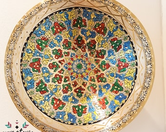 Colourful Hand Painted Copper Plate