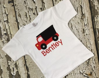 Dump truck Personalized Shirt - Embroidered Dump truck Shirt - Boys Dumptruck Shirt - Hauling Truck Shirt
