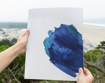 Ocean II Watercolor Print – 11x14 fine art archival quality giclée print