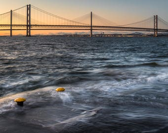 The Forth Road Bridge at Sunset, available in various sizes