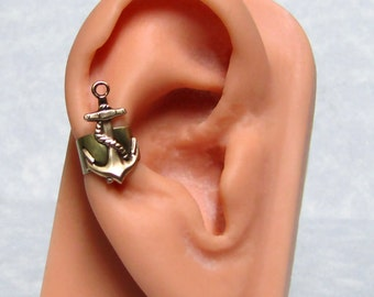 Anchor Nautical Ear Cuff ' right ear '