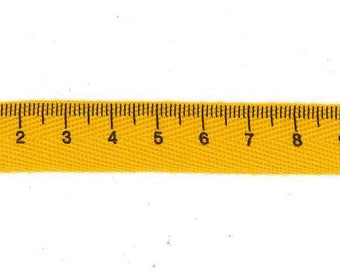 Fancy yellow saffron dressmaker meter to meter twill tape