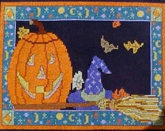All Hallow's Eve Cross Stitch Pattern - Digital Download