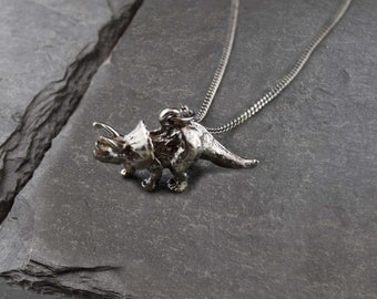 Vintage Triceratops Necklace