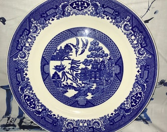 Blue Willow Bread Plate
