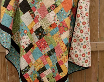 custom patchwork quilt (58x65)