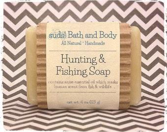 Hunting & Fishing Soap - Men's Soap, Natural Soap, Hunting Soap, Fishing Soap, Anise Soap, Gifts for Him