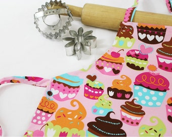 Sweet Cupcakes Child Apron - pink
