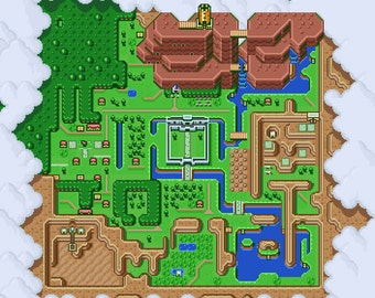 Legend of zelda map etsy the legend of zelda a link to the past light world map poster gumiabroncs Images