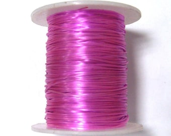 Pink nylon elastic - 0.5 mm sold per 5 meters - ideal for making bracelets and necklace