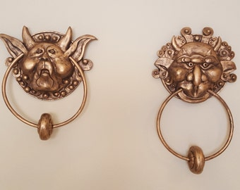 The Labyrinth Door Knockers Pair , Left and Right