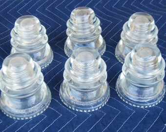 Vintage Glass Insulators - Glass Candle Holders