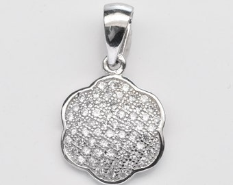 Handmade Fashion Jewelry, Cubic Zirconia Sterling Silver Pendant FD5C0376 PD-CUB011