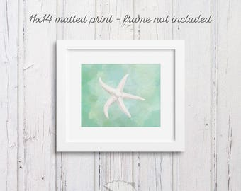 Starfish Wall Art, Coastal Art, Sea Shell Art, Art Prints, Coastal Wall Decor, beach cottage, coastal living, housewarming gift