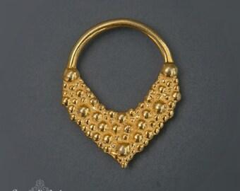 Septum Jewelry, Septum Ring 16g, Gold Septum Ring, Tribal Septum Ring, 18g Septum, Indian Septum Ring, Septum Piercing
