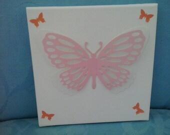 pink 3d butterflies