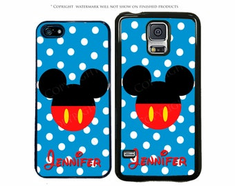 Disney Mickey Mouse Personalized Name Phone Case For Apple iPhone 7, 7 Plus, iPhone 8, Galaxy S8, S8 Plus, S7, S7 Edge, LG G6, Pixel, XL