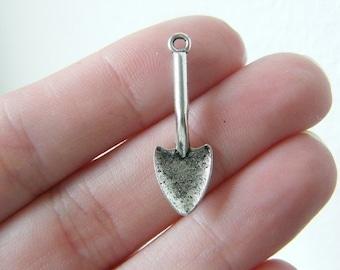 BULK 50 spade charms antique silver tone P542