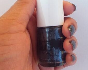 Black glitter nail polish- Midnight Madness