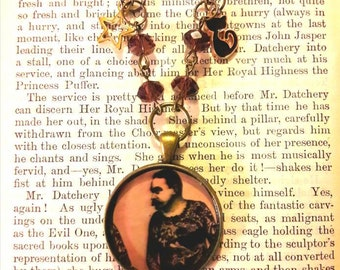 Vintage circus tattooed man  Necklace