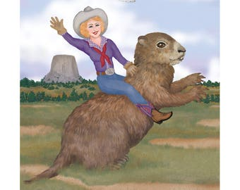 Riding Towards Groundhog Day Print