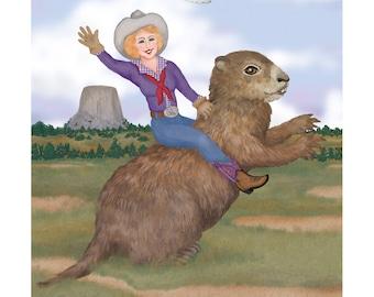 Équitation à imprimer du jour de la marmotte