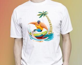 Surfing T-shirt, Surfer men T-shirt, Surfer women T-shirt, Surfer people, Surfing man, Surfing woman, Surfing birthday, Men Women clothing