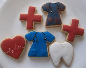 Doctor cookies, Nurse cookies, Dentist cookies