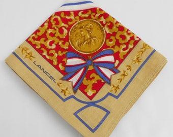 Lancel Handkerchief Lancel Vintage Hanky Handkerchief Lancel Pocket Square Scarf