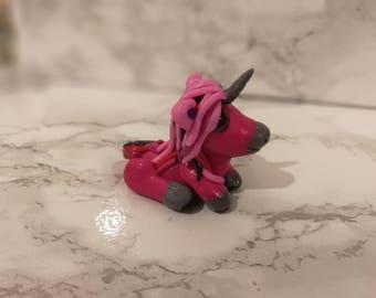 Polymer Clay hand crafted Unicorn