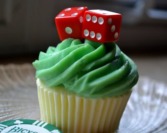 Cupcake Soap - Roll of the Dice Cupcake Soap - Casino Fan - Gambling Party Favor - Fathers Day - Gift for Him - Mens