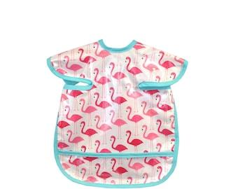 Pink Flamingo Apron Bib