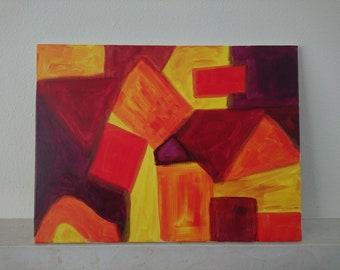 Modern Original Acrylic Painting, Canvas Wall Art