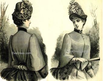 1885 Pelerine Mantel Pattern by EvaDress